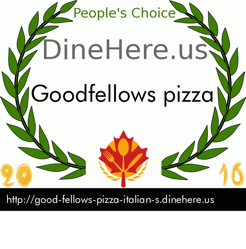 Goodfellows pizza DineHere.us 2016 Award Winner